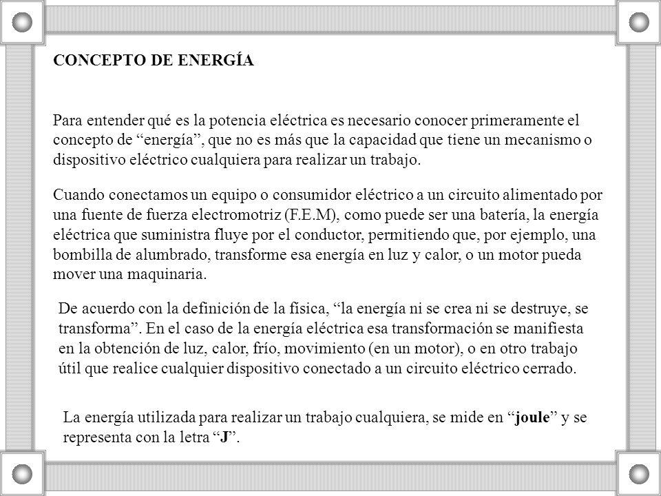 CONCEPTO DE ENERGÍA