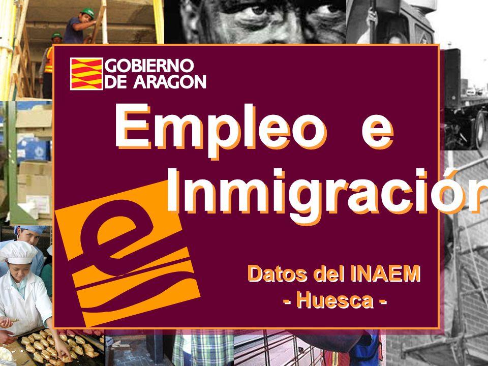 Empleo e Inmigración Datos del INAEM - Huesca -