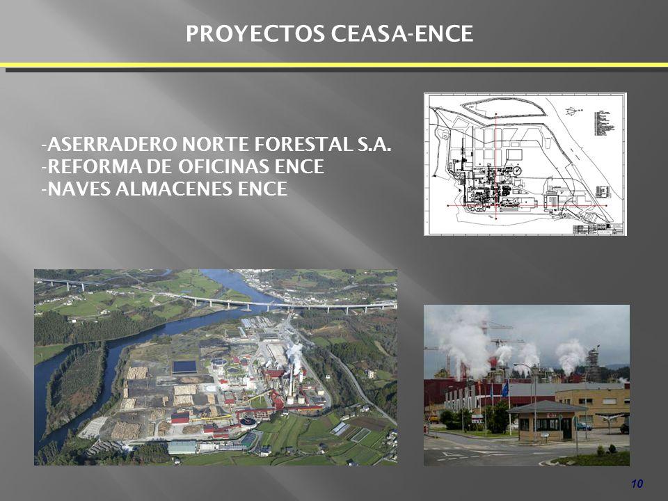 PROYECTOS CEASA-ENCE ASERRADERO NORTE FORESTAL S.A.