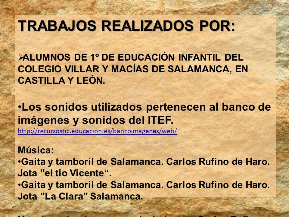TRABAJOS REALIZADOS POR: