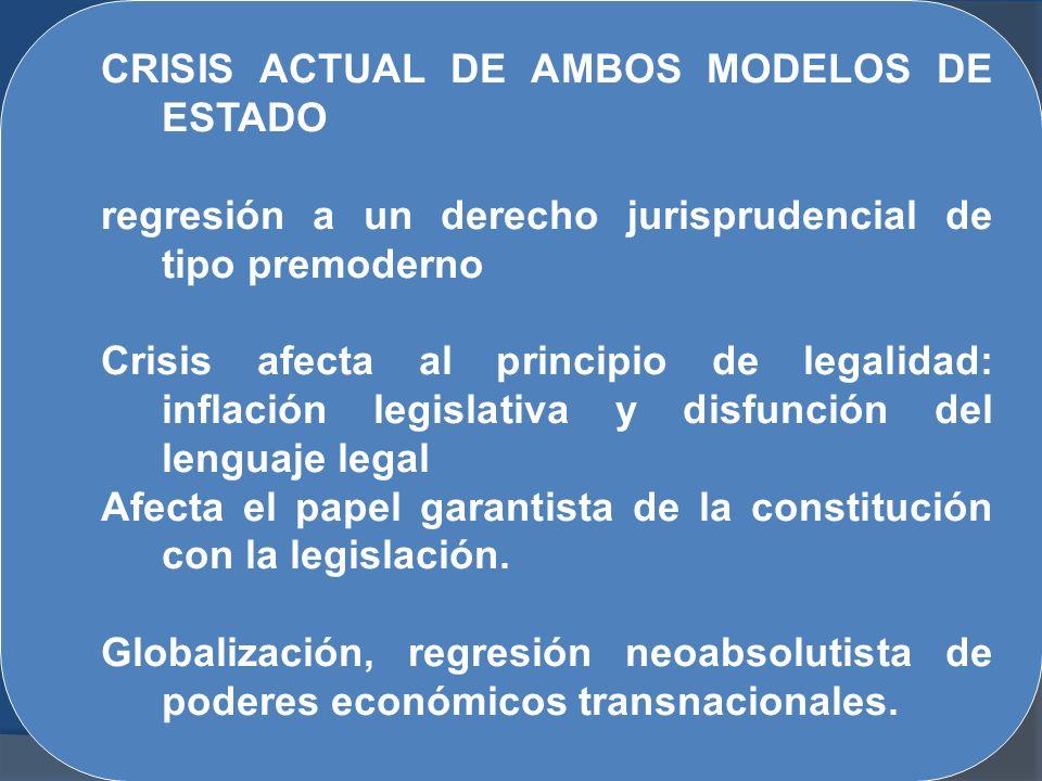 CRISIS ACTUAL DE AMBOS MODELOS DE ESTADO