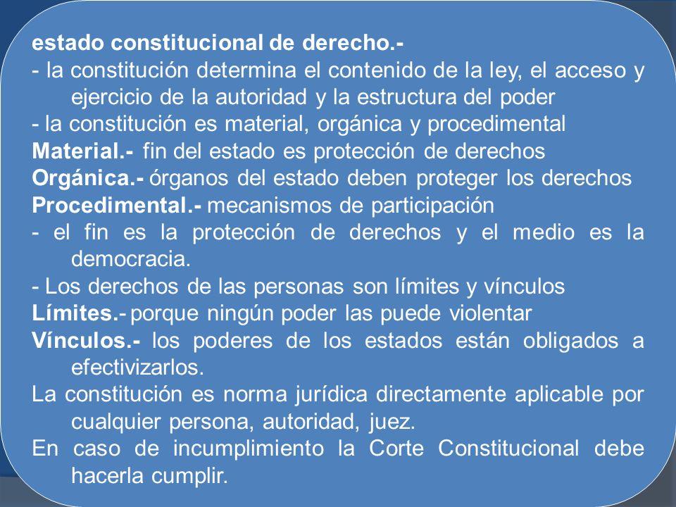 estado constitucional de derecho.-
