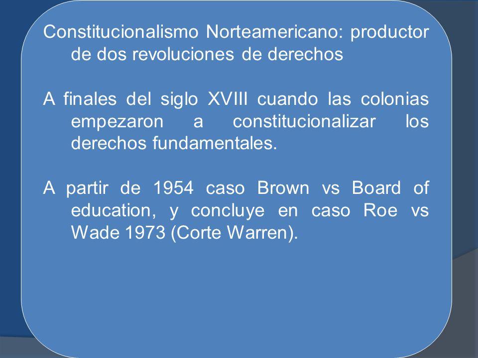 Constitucionalismo Norteamericano: productor de dos revoluciones de derechos