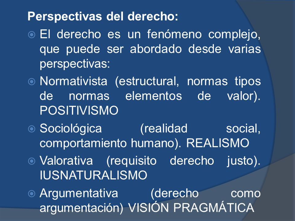 Perspectivas del derecho: