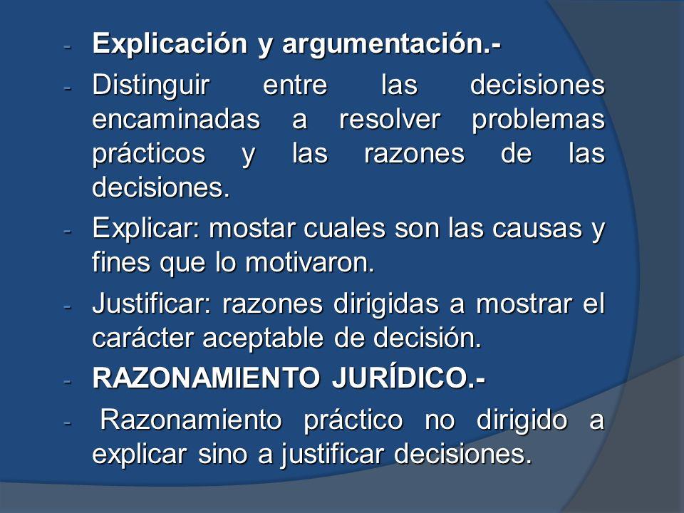 Explicación y argumentación.-