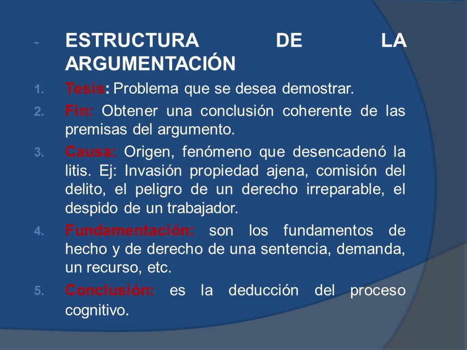 ESTRUCTURA DE LA ARGUMENTACIÓN