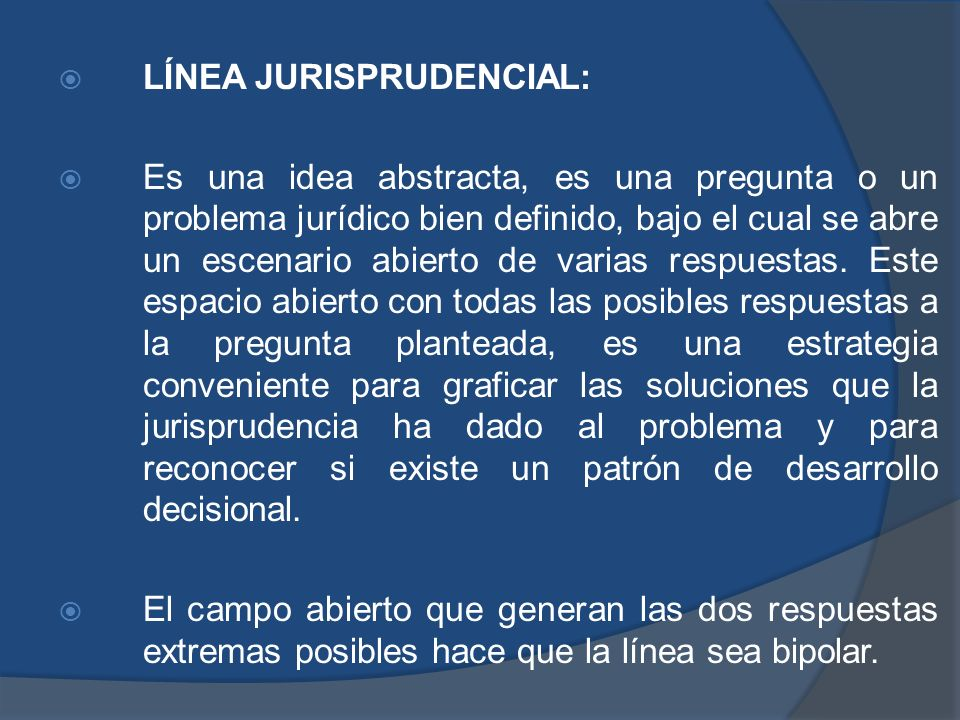 LÍNEA JURISPRUDENCIAL: