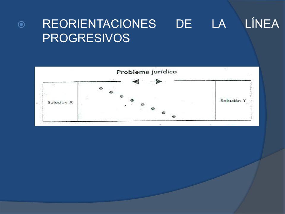 REORIENTACIONES DE LA LÍNEA PROGRESIVOS