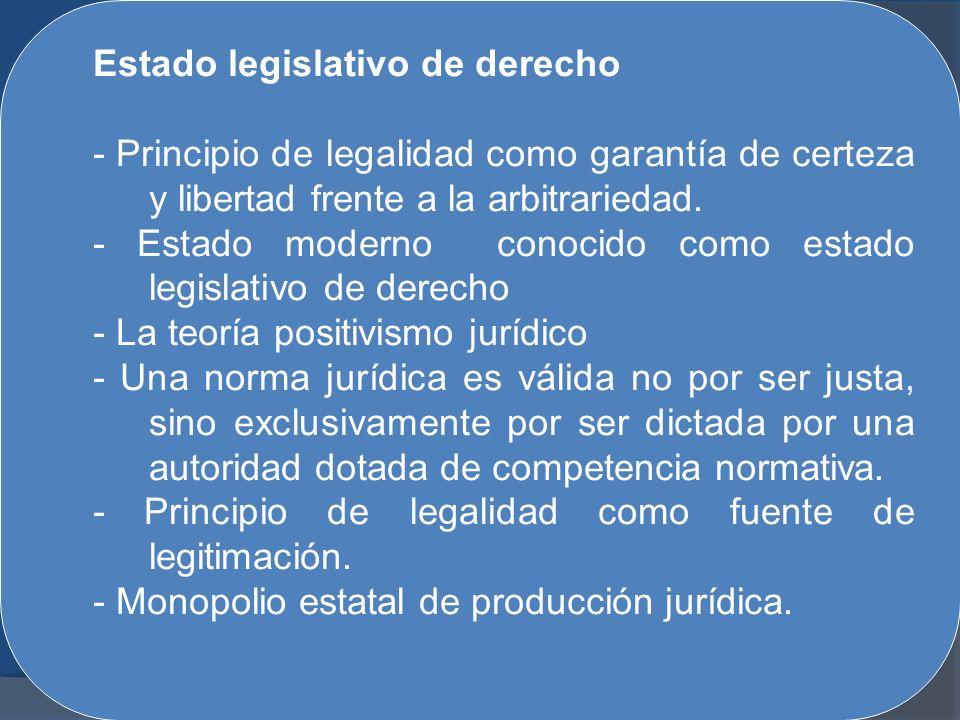 Estado legislativo de derecho