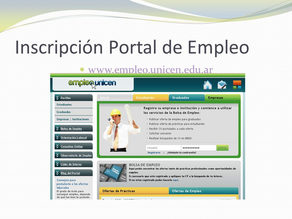 Inscripción Portal de Empleo