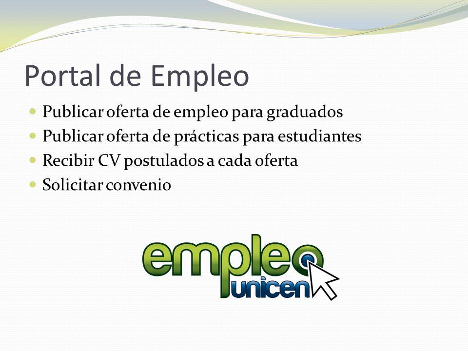Portal de Empleo Publicar oferta de empleo para graduados