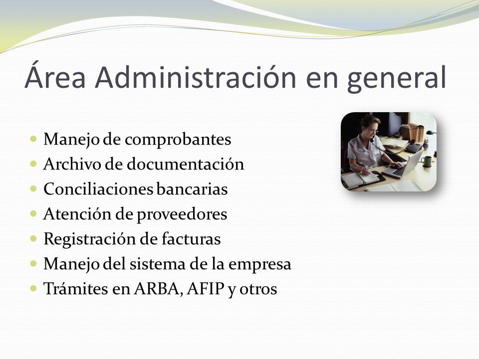 Área Administración en general