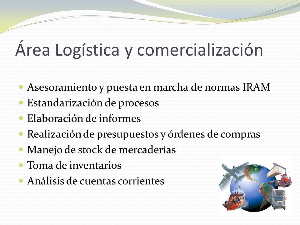 Área Logística y comercialización