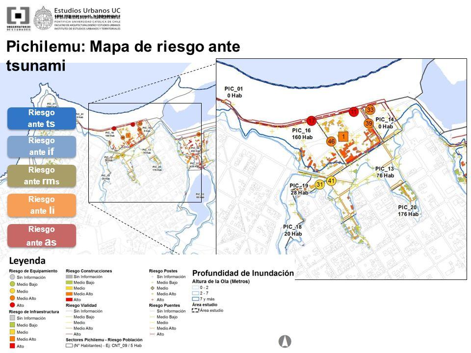 Pichilemu: Mapa de riesgo ante tsunami