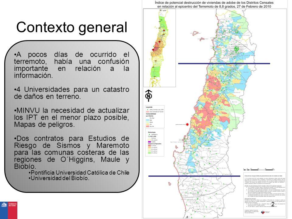 Contexto general A pocos días de ocurrido el terremoto, había una confusión importante en relación a la información.