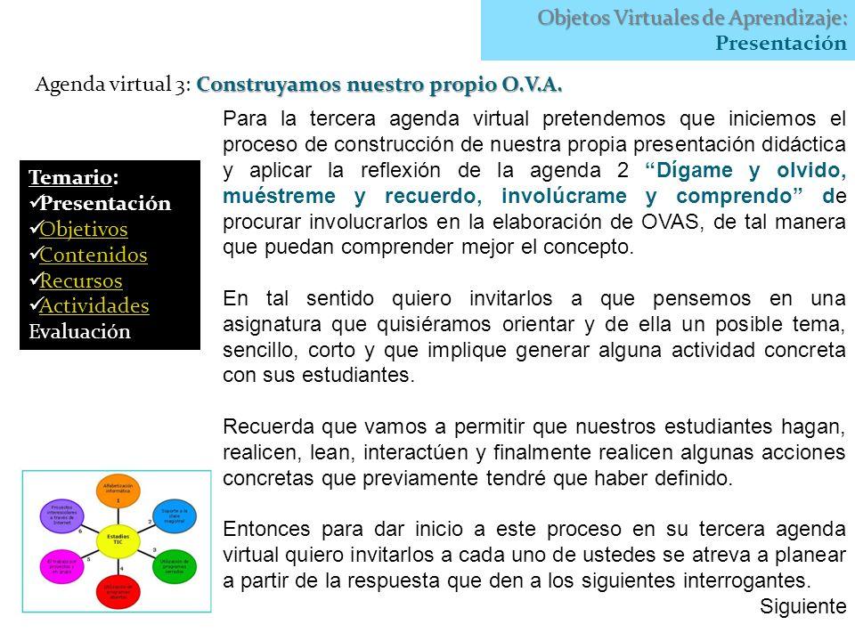 Objetos Virtuales de Aprendizaje: Presentación