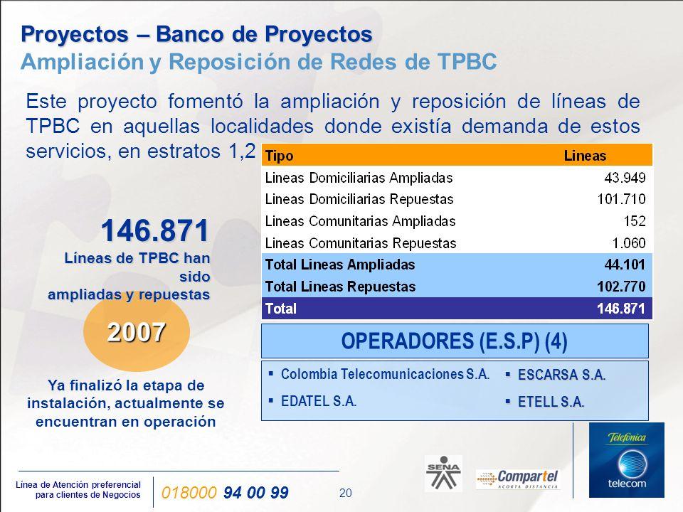 Proyectos – Telefonía Rural Comunitaria