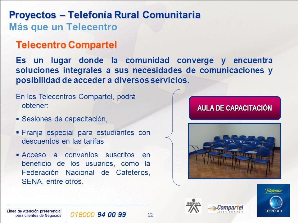 Proyectos – Telefonía Rural Comunitaria Características de los Telecentros