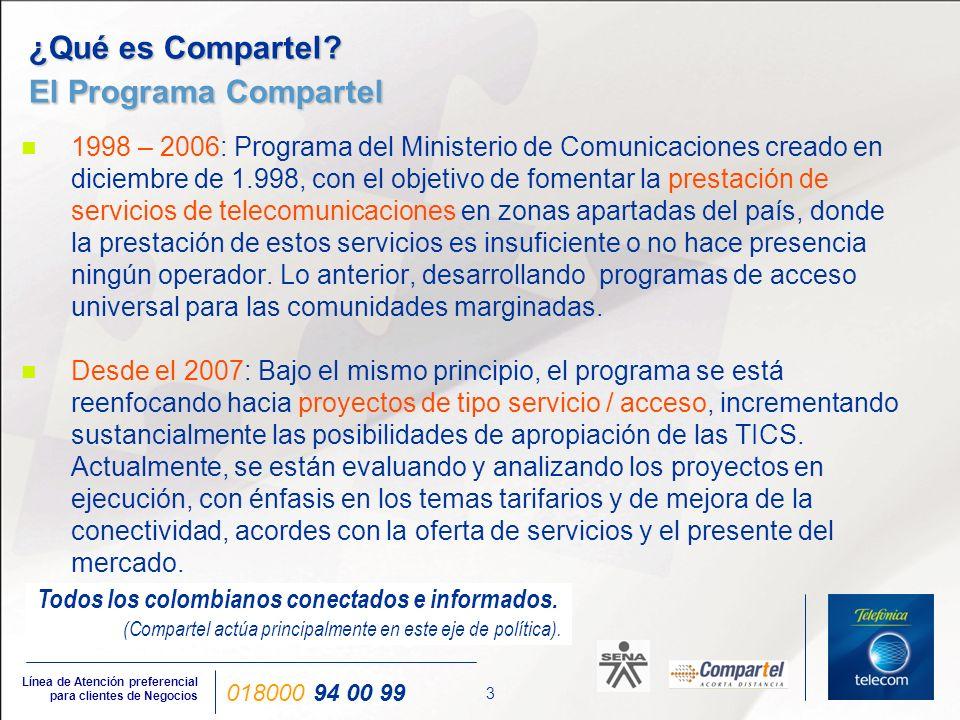 ¿Qué es Compartel ¿Servicio / Acceso Universal