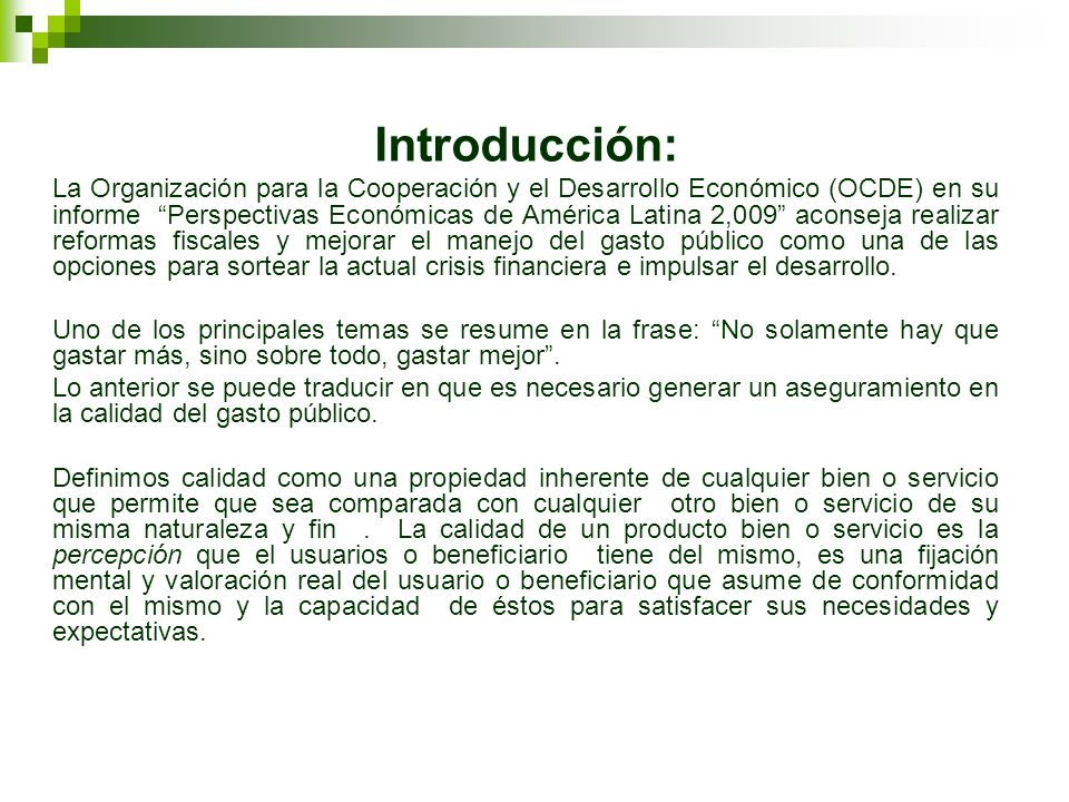 ASEGURAMIENTO DE LA CALIDAD DEL GASTO PUBLICO: