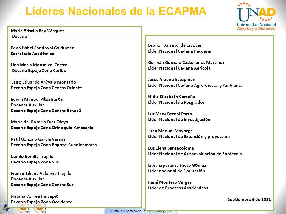 Líderes Nacionales de la ECAPMA