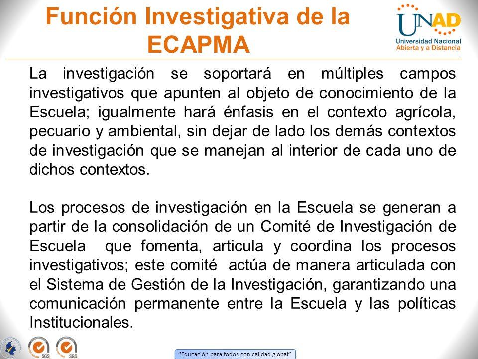 Función Investigativa de la ECAPMA