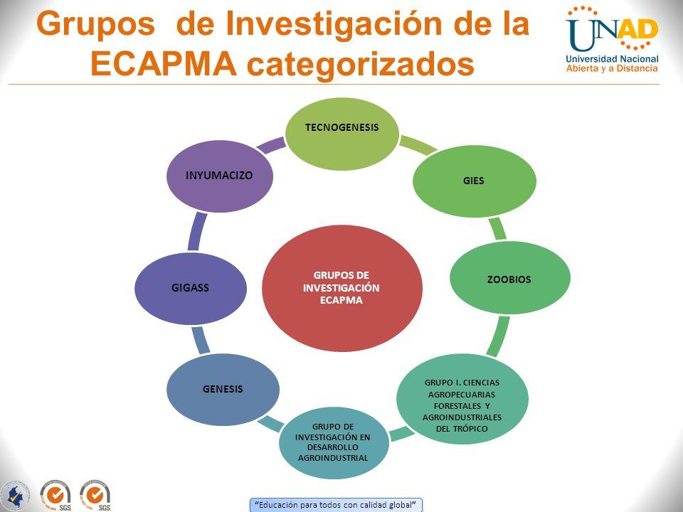 Grupos de Investigación de la ECAPMA categorizados
