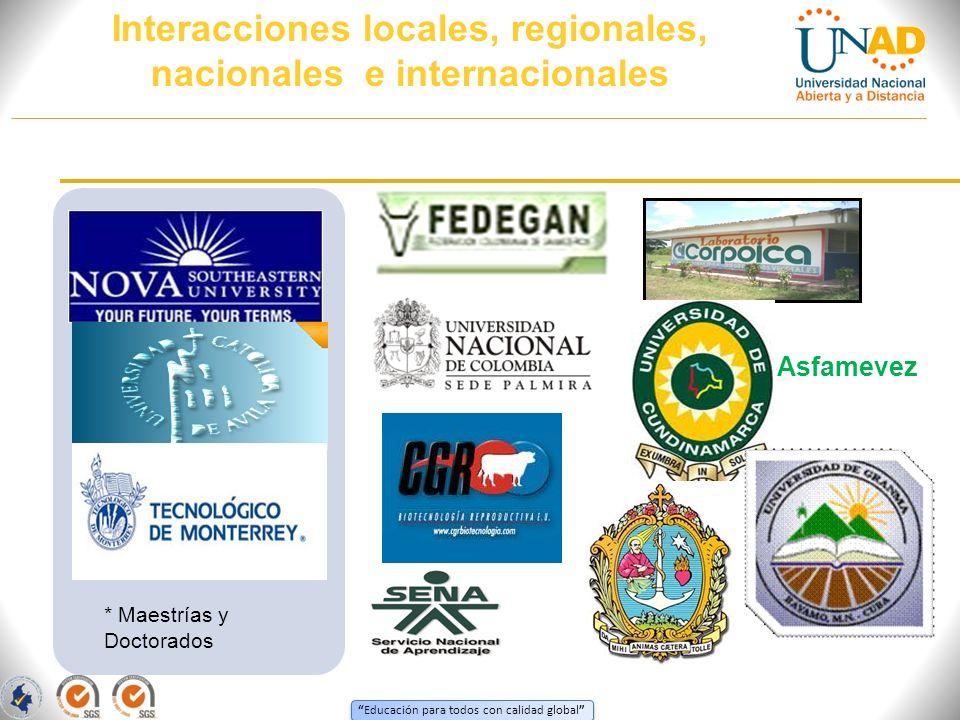 Interacciones locales, regionales, nacionales e internacionales