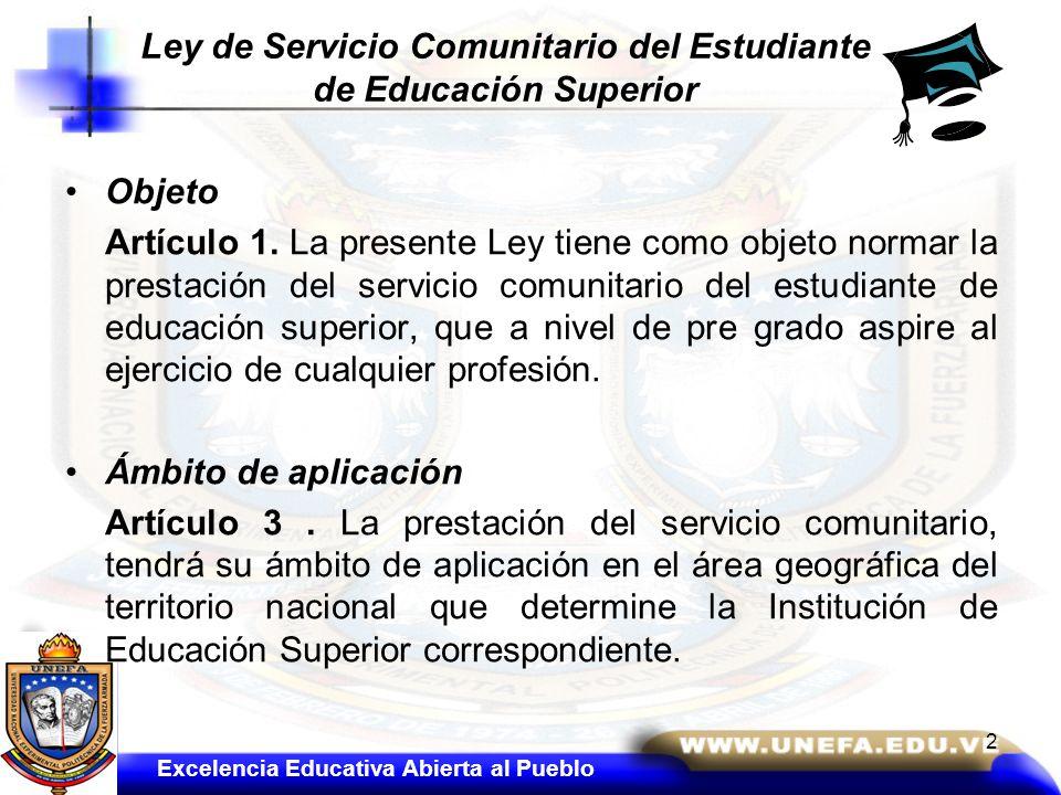 Ley de Servicio Comunitario del Estudiante de Educación Superior