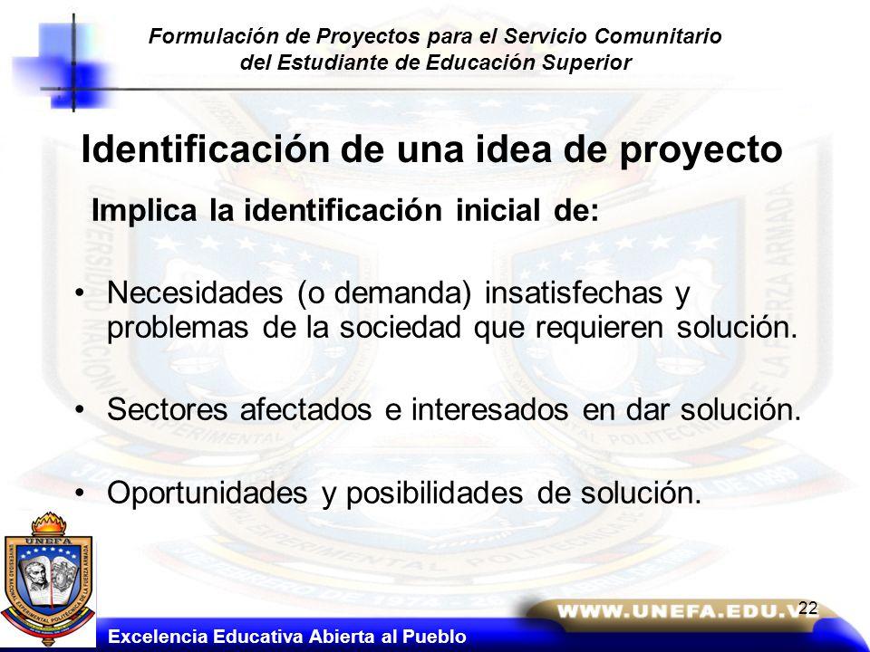 Identificación de una idea de proyecto
