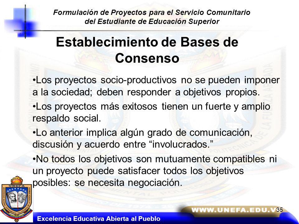Establecimiento de Bases de Consenso