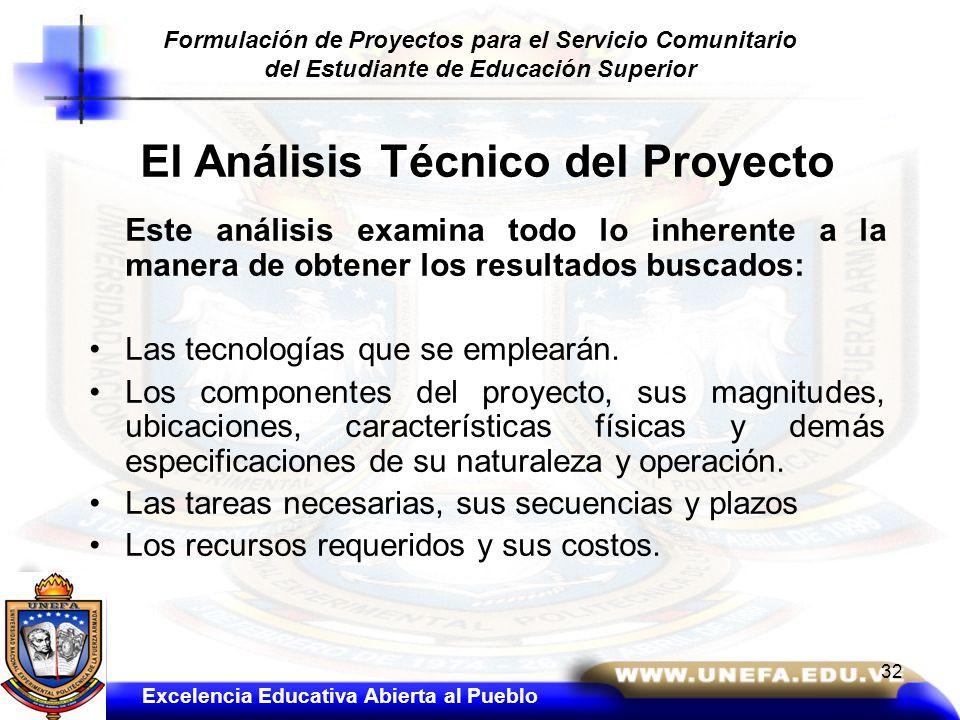El Análisis Técnico del Proyecto