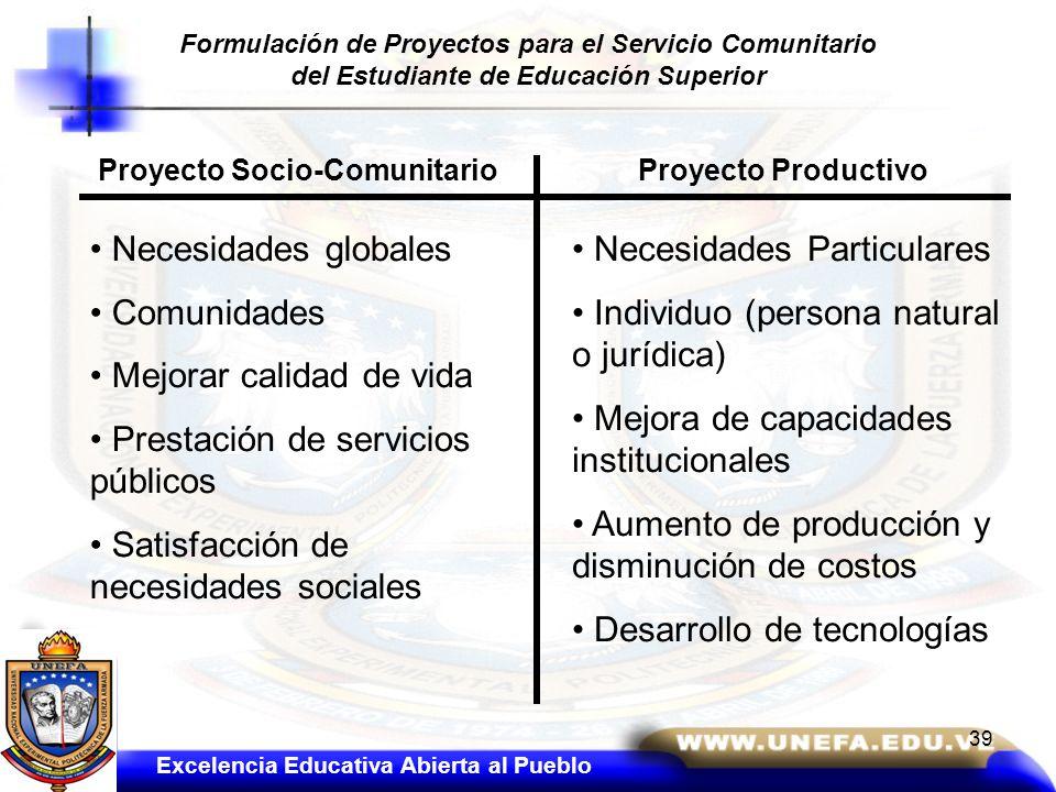 Mejorar calidad de vida Prestación de servicios públicos