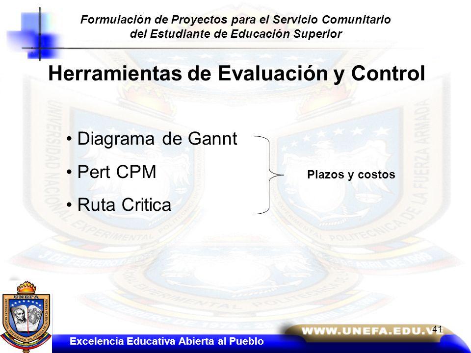 Herramientas de Evaluación y Control