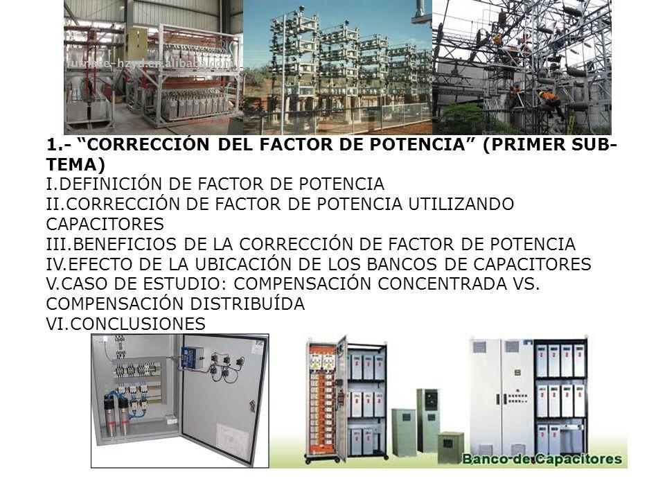 1.- CORRECCIÓN DEL FACTOR DE POTENCIA (PRIMER SUB-TEMA)