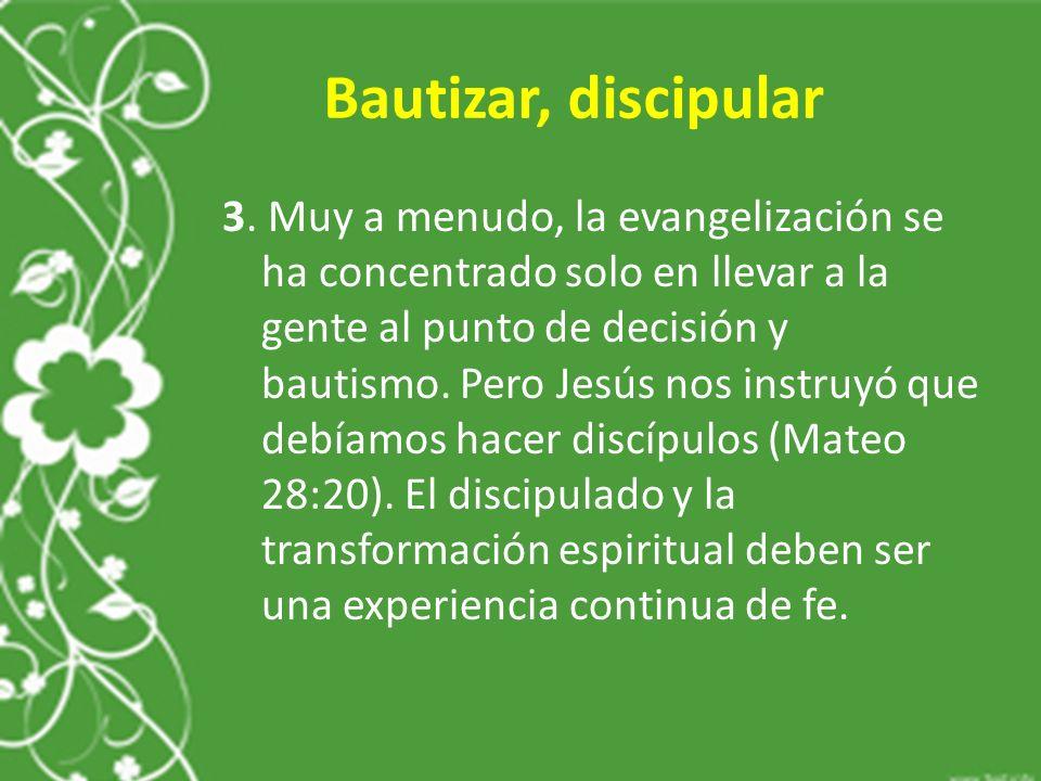 Bautizar, discipular