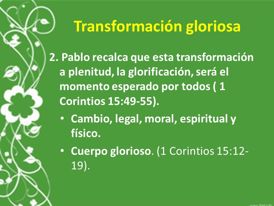 Transformación gloriosa