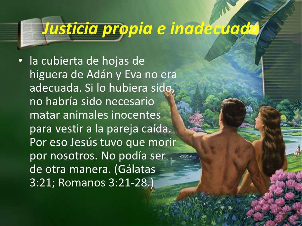 Justicia propia e inadecuada