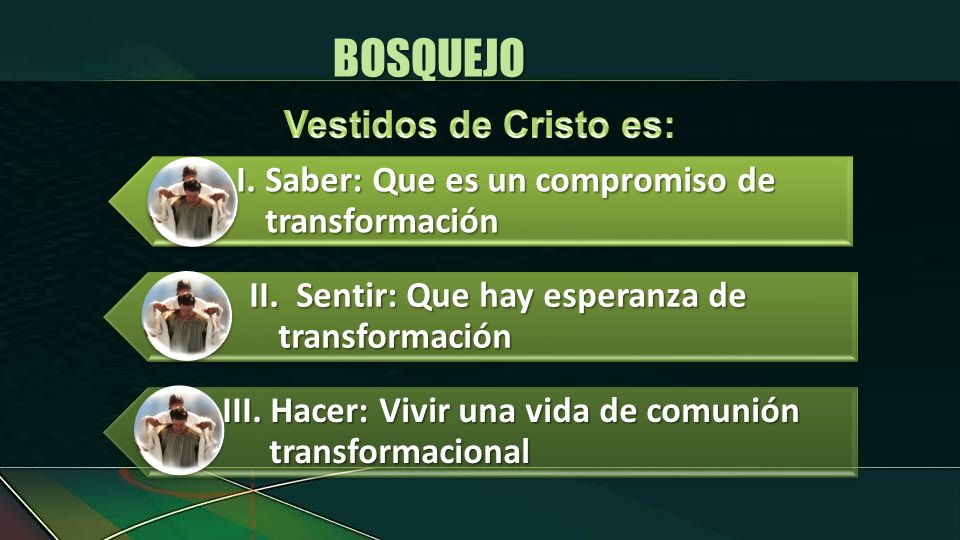 BOSQUEJO I. Saber: Que es un compromiso de transformación