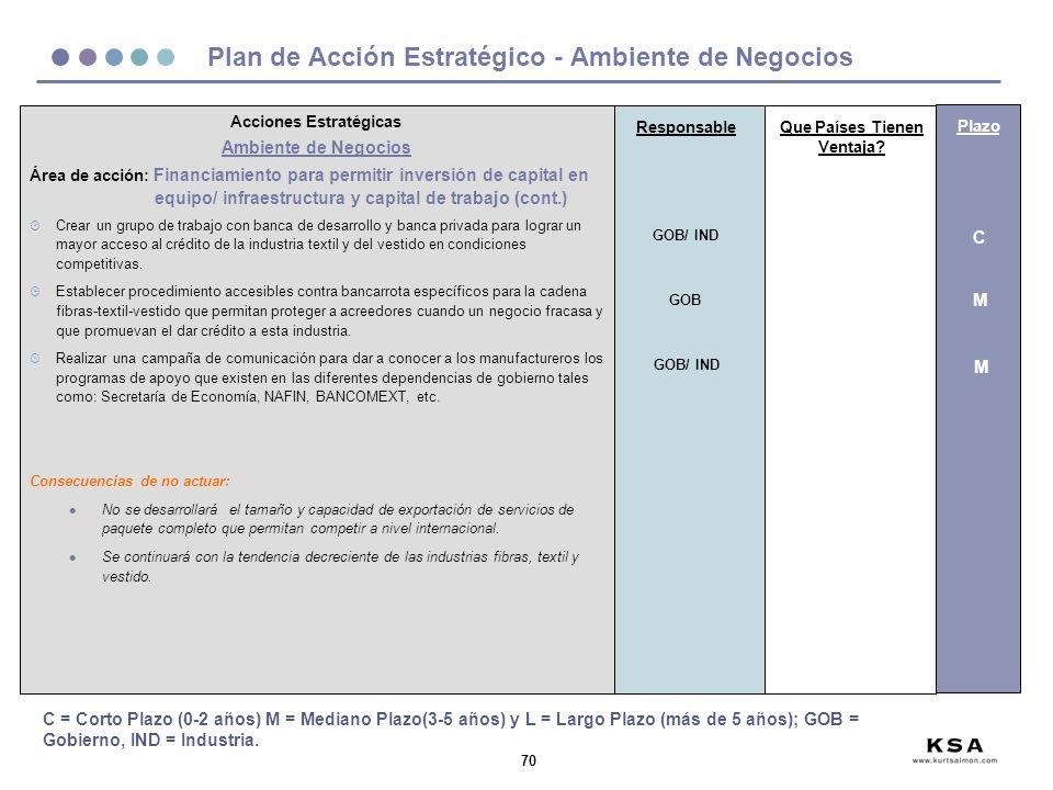 Plan de Acción Estratégico - Ambiente de Negocios