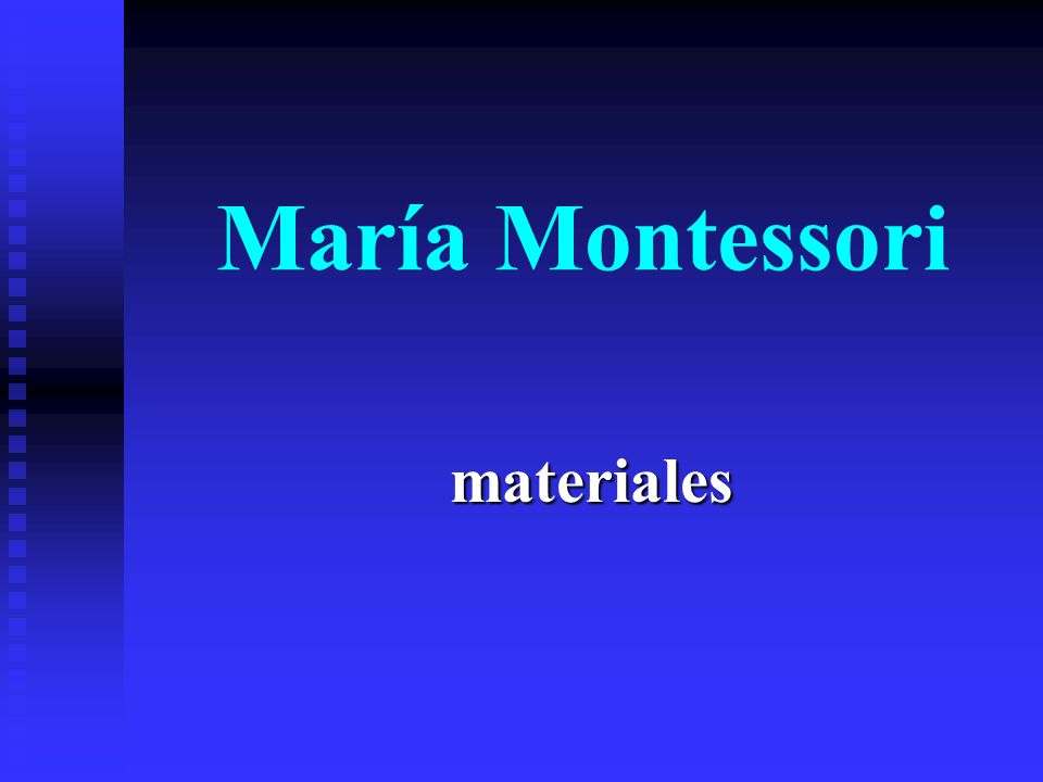 María Montessori materiales
