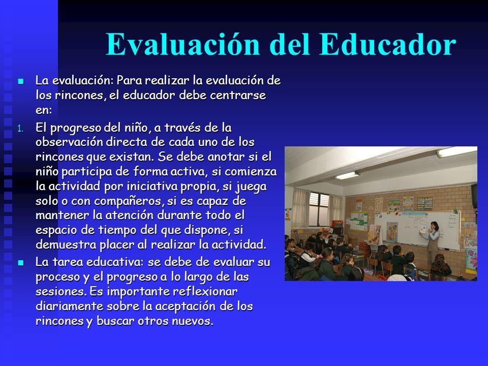 Evaluación del Educador