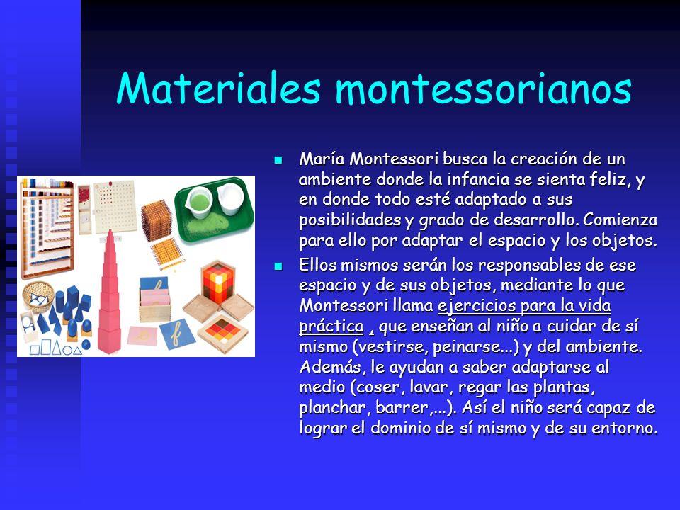 Materiales montessorianos