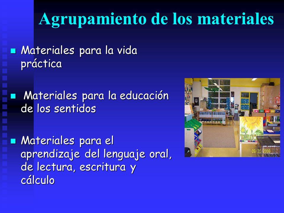 Agrupamiento de los materiales