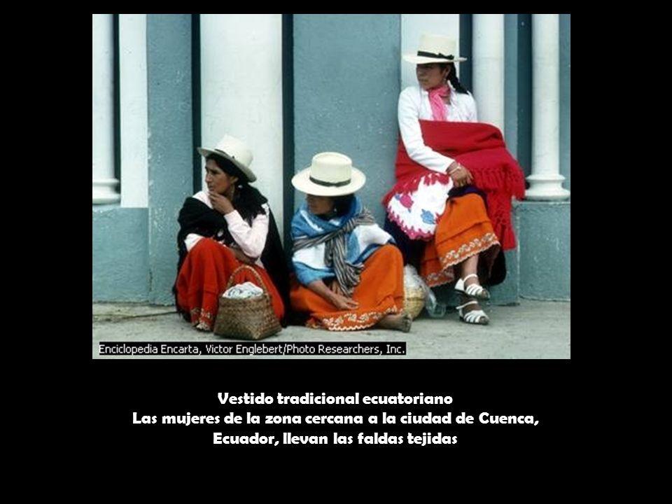 Vestido tradicional ecuatoriano