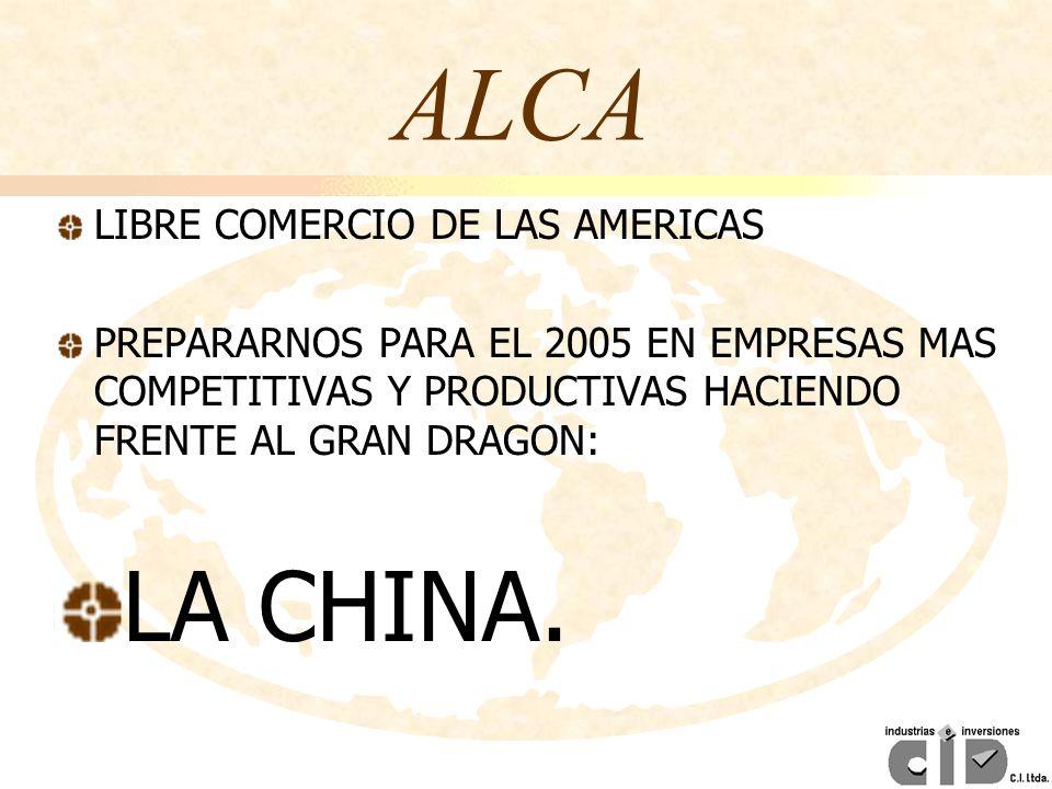 ALCA LA CHINA. LIBRE COMERCIO DE LAS AMERICAS