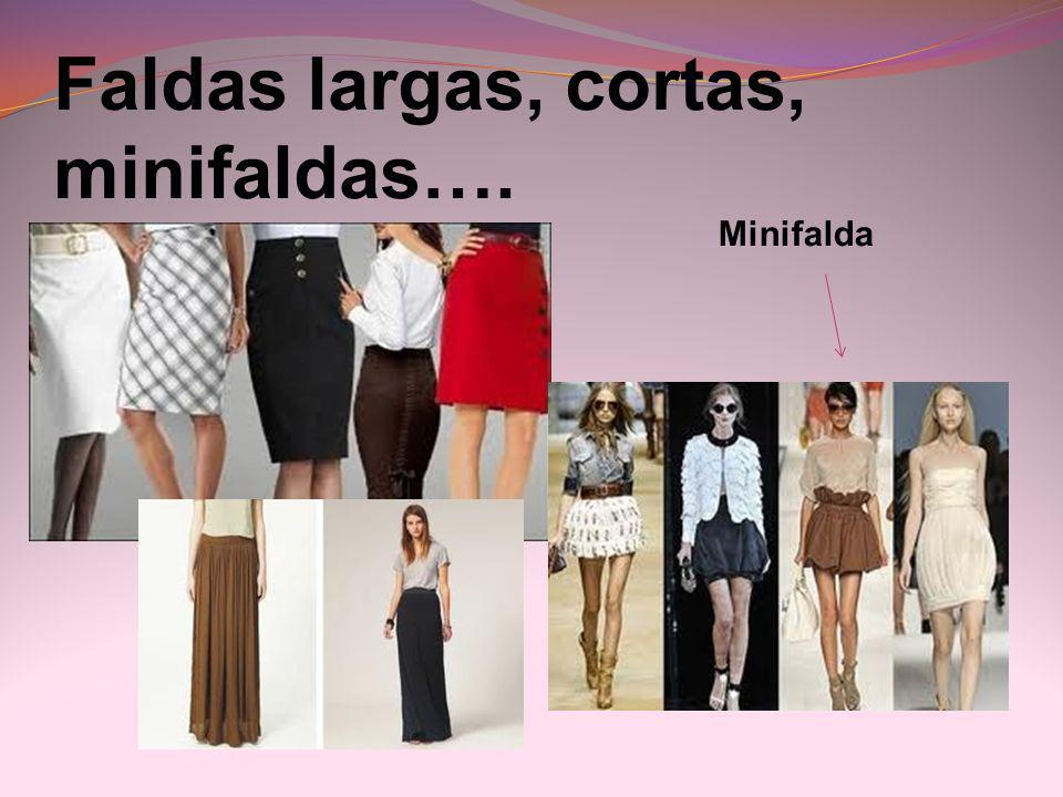 Faldas largas, cortas, minifaldas….