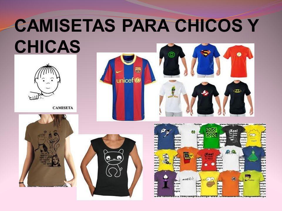 CAMISETAS PARA CHICOS Y CHICAS