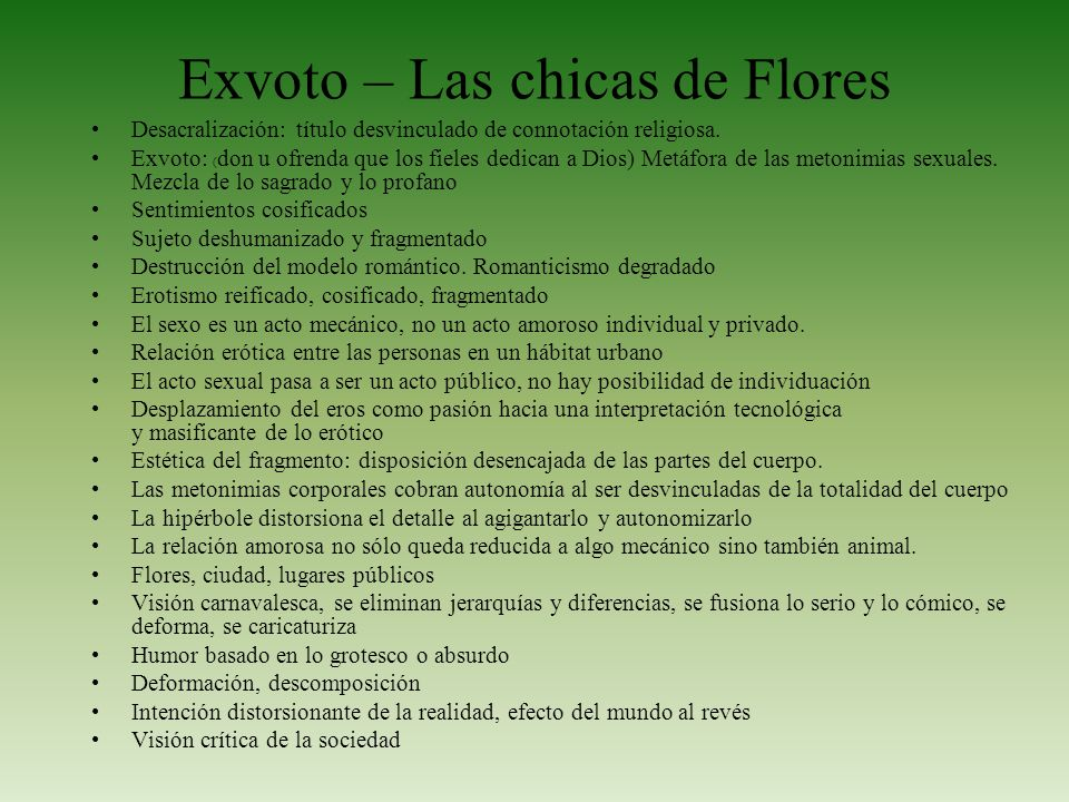Exvoto – Las chicas de Flores
