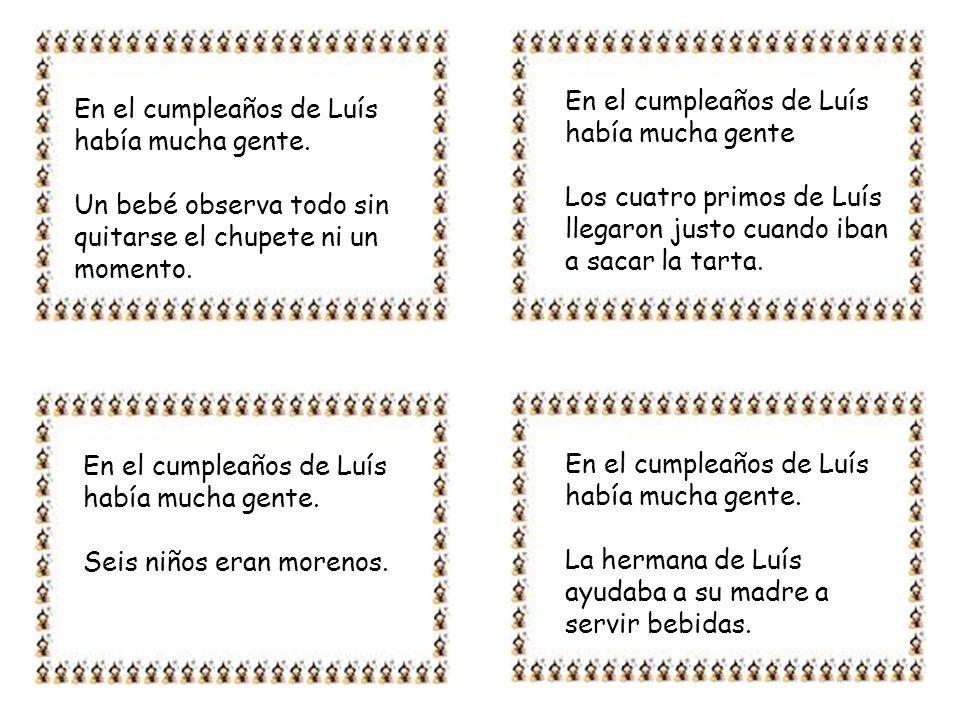En el cumpleaños de Luís